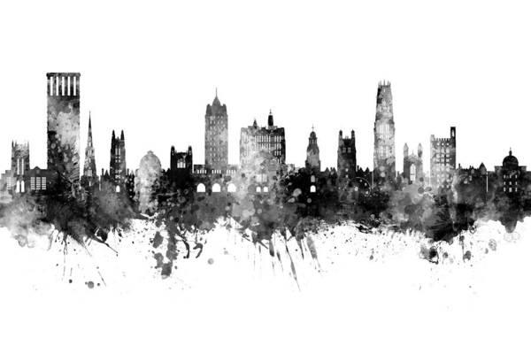 Wall Art - Digital Art - Yale Connecticut Skyline by Michael Tompsett