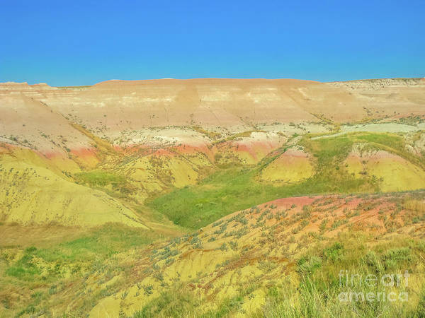 Photograph - Yellow Mounds At Badlands by Benny Marty