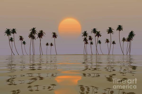 Wall Art - Photograph - Yellow Sun Over Island by Aleksey Tugolukov