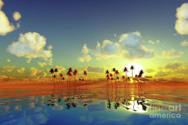 Wall Art - Photograph - Yellow Sunset Over Tropic Sea by Aleksey Tugolukov