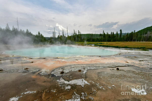 Photograph - Yellowstone Acid Pool by Paul Quinn