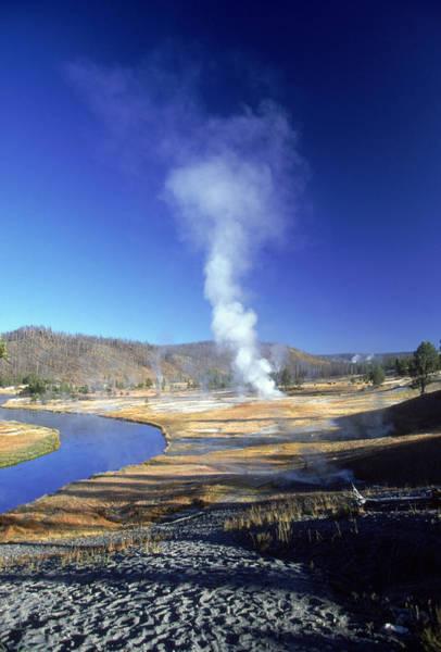 Wall Art - Photograph - Yellowstone Fumaroles by David Hosking