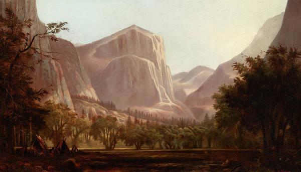 Wall Art - Painting - Yosemite Encampment by Edwin Deakin