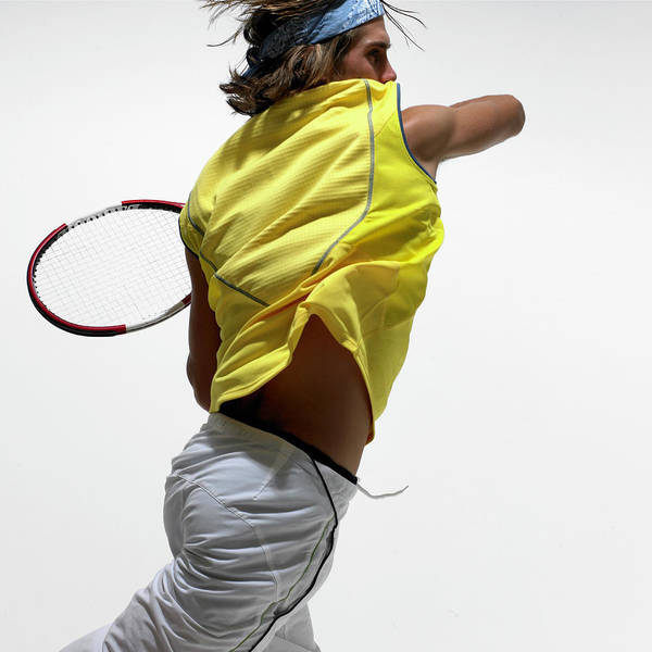 Headband Photograph - Young Male Tennis Player Performing by Adrian Green