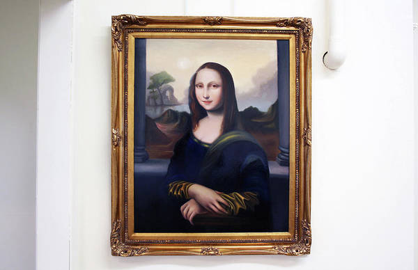 Wall Art - Painting - Young Mona's Smile by David N Corrado