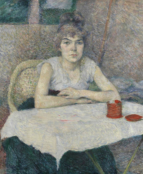 Henri Toulouse-lautrec Painting - Young Woman At A Table by Henri de Toulouse-Lautrec