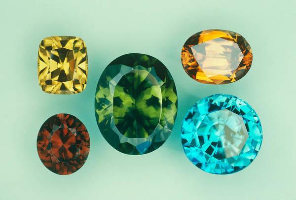 Wall Art - Photograph - Zircon Gemstones by Joel E. Arem