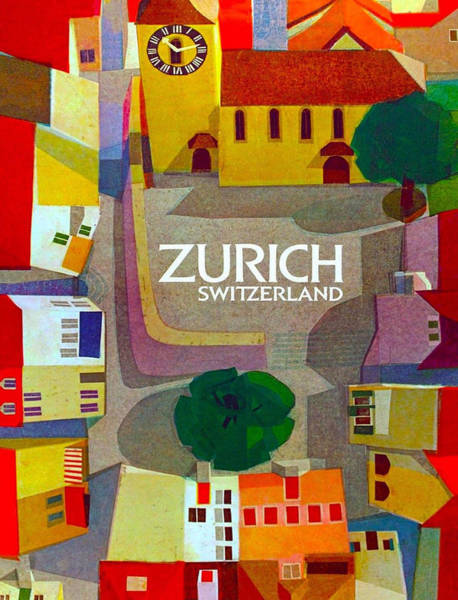 Wall Art - Digital Art - Zurich by Long Shot