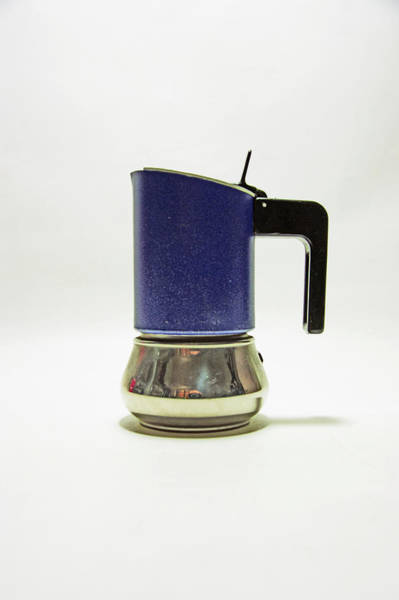 Photograph - 10-05-19 Studio. Blue Cafetiere by Lachlan Main