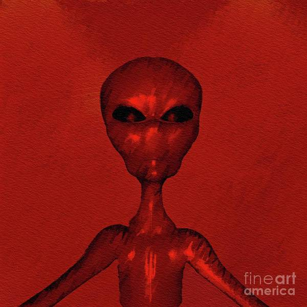 Wall Art - Painting - Ancient Aliens by Raphael Terra