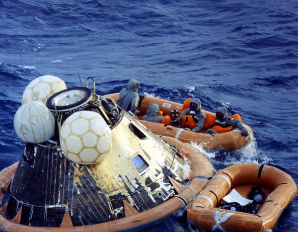 Photograph - Apollo 11 Recovery, 1969 by Science Source