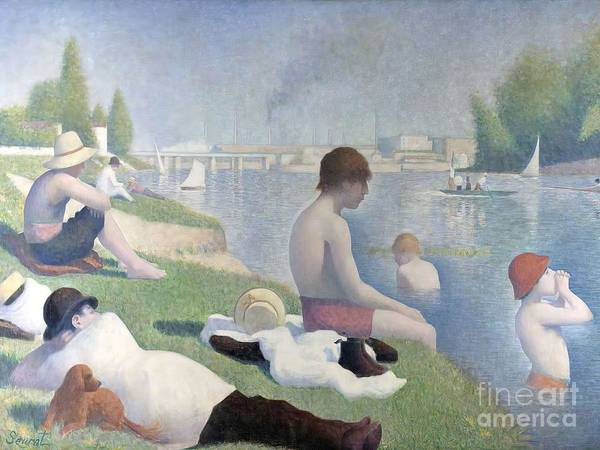 Painting - Bathers At Asnieres by Georges Seurat