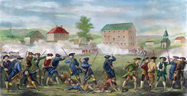 Painting - Battle Of Lexington, 1775 by Granger