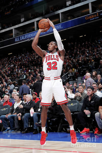 Photograph - Chicago Bulls V Sacramento Kings by Rocky Widner
