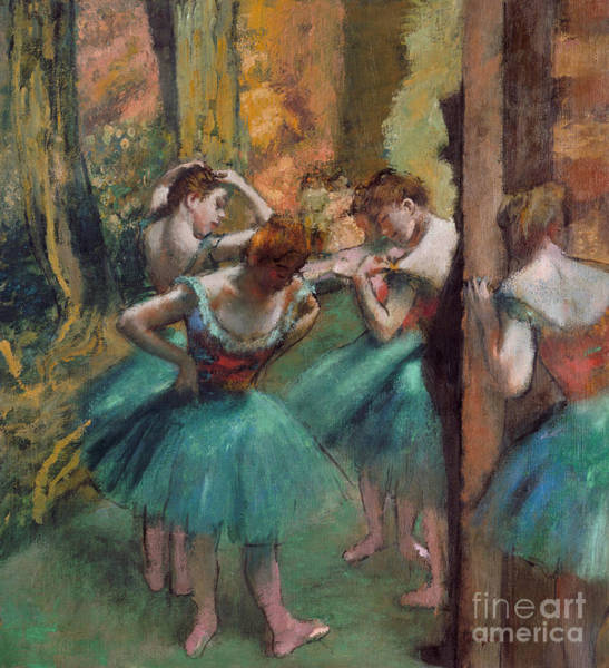Wall Art - Painting - Dancers, Pink And Green by Edgar Degas