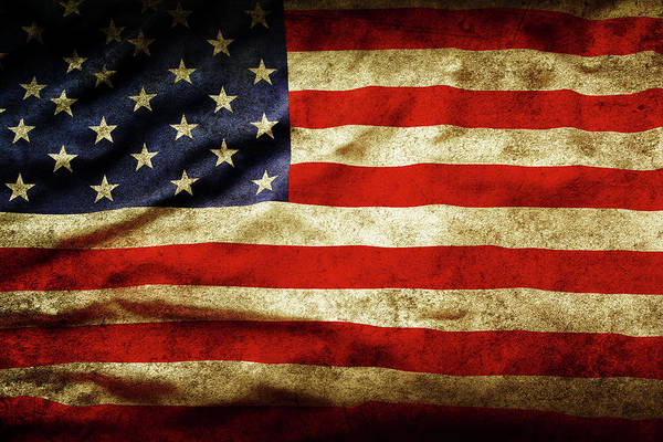 Wall Art - Photograph - American Flag No.183 by Les Cunliffe
