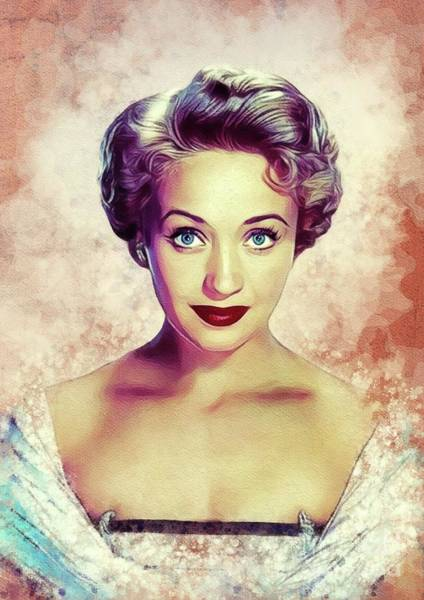 Wall Art - Painting - Jane Powell, Vintage Actress by John Springfield
