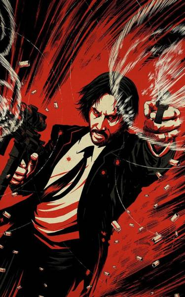 Wall Art - Digital Art - John Wick by Geek N Rock