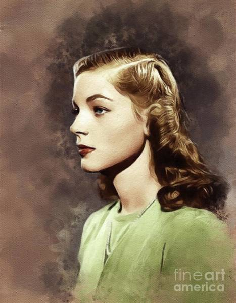 Wall Art - Painting - Lauren Bacall, Vintage Movie Star by John Springfield