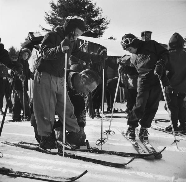 North Conway Photograph - New England Skiing by Slim Aarons