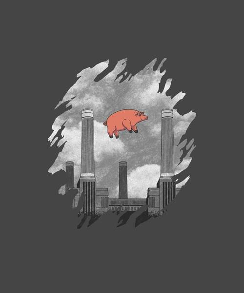 Wall Art - Digital Art - Pink Floyd Pig At Battersea by Dawn OConnor