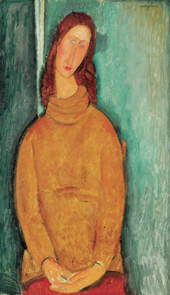 Modigliani Painting - Portrait Of Jeanne Hebuterne by Amedeo Modigliani