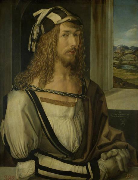 Albrecht Durer Wall Art - Painting - Self-portrait by Albrecht Durer