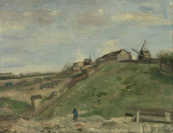Rural Life Wall Art - Painting - The Hill Of Montmartre With Stone Quarry by Vincent Van Gogh