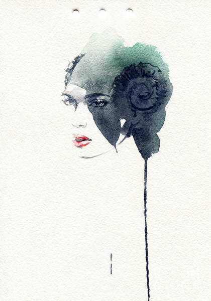 Beauty Of Nature Wall Art - Digital Art - Woman Face. Hand Painted Fashion by Anna Ismagilova