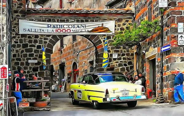 Photograph - 1000 Miglia Entry To Radicofani In Tuscany by Dorothy Berry-Lound