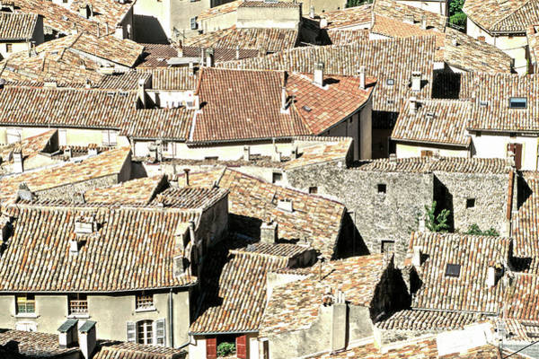 Photograph - 10008 Provence Roofs by Kim Lessel