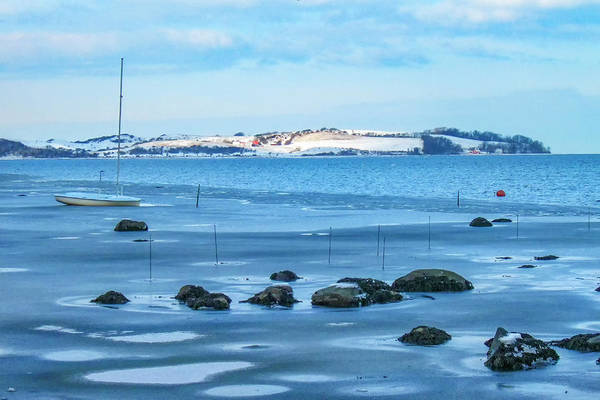 Photograph - 10010 Winter View Neksel Island by Kim Lessel