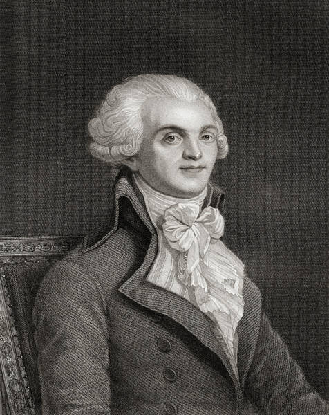 Wall Art - Drawing - Maximilien Robespierre, 1758-1794.  Jacobin Leader During French Revolution by Ken Welsh
