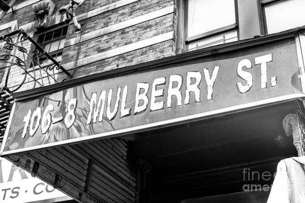 Wall Art - Photograph - 106-8 Mulberry Street Little Italy New York City by John Rizzuto