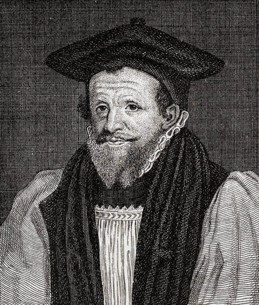 Wall Art - Drawing - Richard Bancroft, 1544 -1610.  Archbishop Of Canterbury,  by Ken Welsh