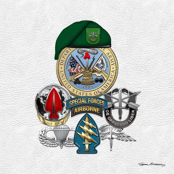 Special Forces Wall Art - Digital Art - 10th Special Forces Group - Green Berets Special Edition by Serge Averbukh