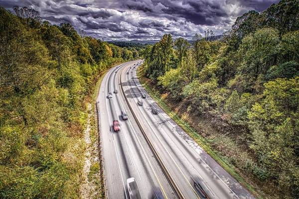 Photograph - Aerial View Of I-40 Highway In North Carolina From Blue Ridge Pa by Alex Grichenko