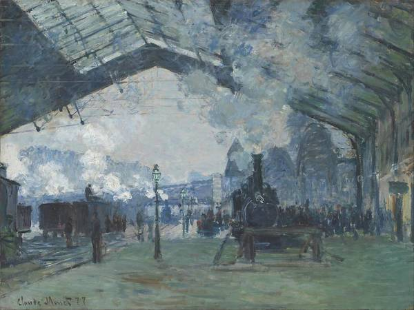 Gare Painting - Arrival Of The Normandy Train  Gare Saint Lazare  by Claude Monet