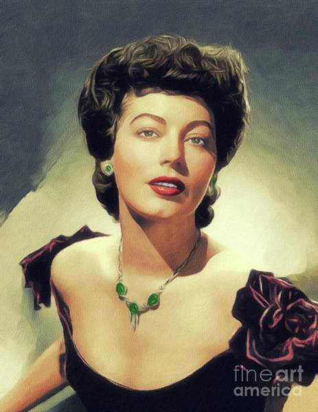 Wall Art - Painting - Ava Gardner, Vintage Movie Star by John Springfield