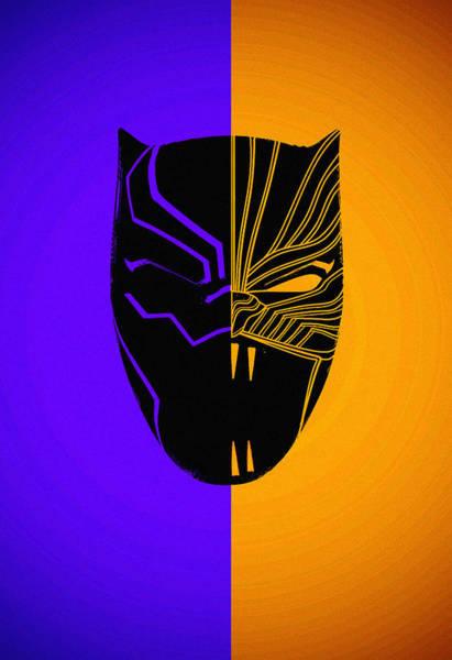 Wall Art - Digital Art - Black Panther by Geek N Rock