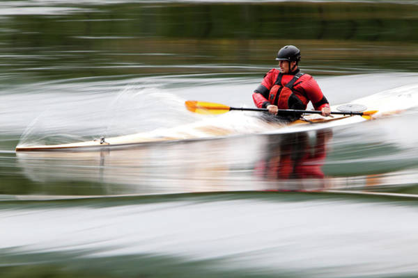 Water Sport Photograph - Cedar Strip Kayak by Steve Glass