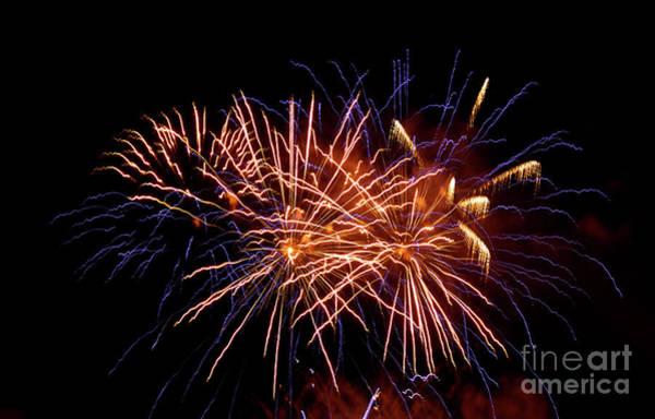Wall Art - Photograph - Firework Display by Bernard Jaubert