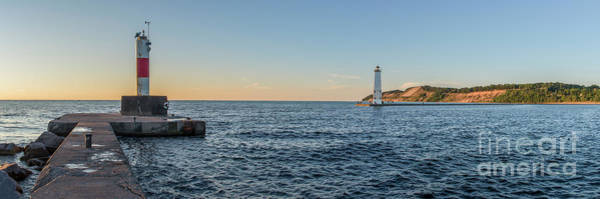 Wall Art - Photograph - Frankfort North Breakwater Lighthouse by Twenty Two North Photography