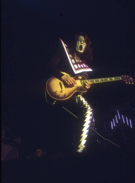 Paul Stanley Wall Art - Photograph - Kiss Performing by Michael Ochs Archives