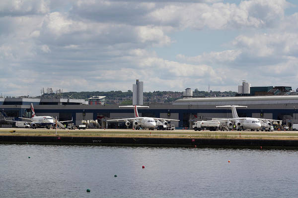 Wall Art - Photograph - London City Airport by David Pyatt