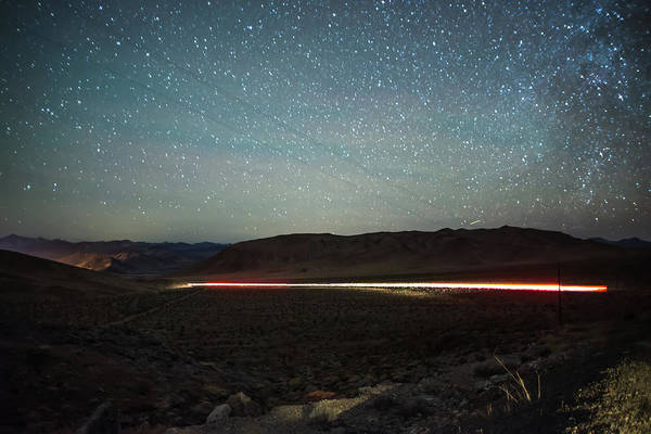 Photograph - Long Exposure Shot At Sunset In Red Rock Canyon Near Las Vegas by Alex Grichenko