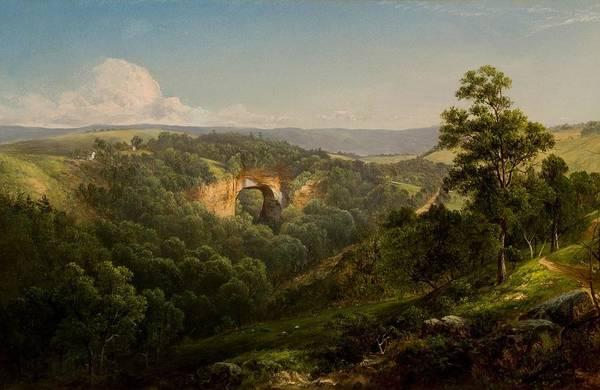 Wall Art - Painting - Natural Bridge by David Johnson