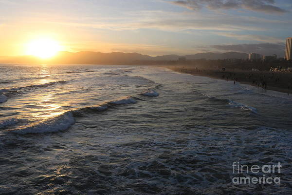 Photograph - Pacific Sunset , Santa Monica, California by John Shiron