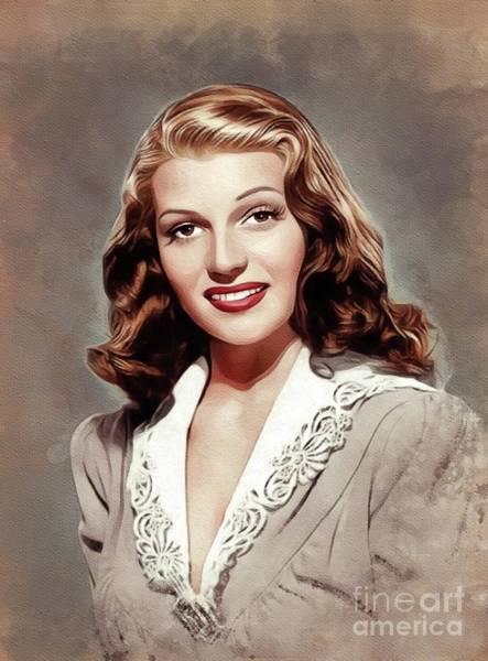 Wall Art - Painting - Rita Hayworth, Vintage Movie Star by John Springfield
