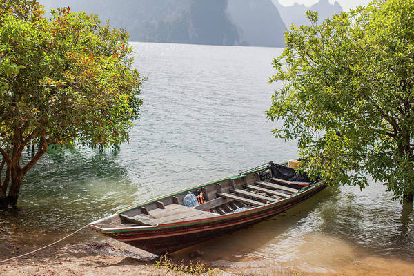 Lakeshore Photograph - Scene On Chieow Laan Lake, Khoa Sok by Emma Gutteridge